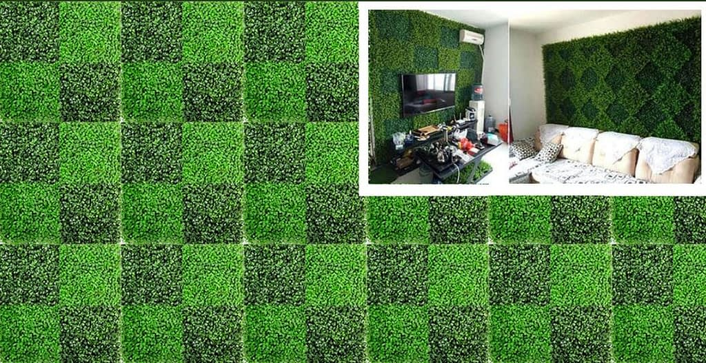 Outdoor Artificial Green Walls Moss Walls Bark Walls